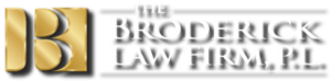 broderick law firm transparent white logo