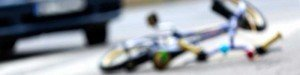 Bicycle Accident with Toddler Bike Blurred
