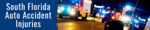 emergency vehicles at car accident scene in south florida