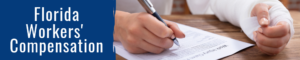 florida woman completing workers compensation claim form